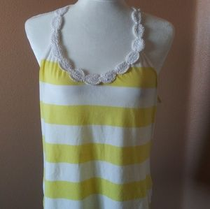 Old Navy sizelarge tank top. Yellow and white